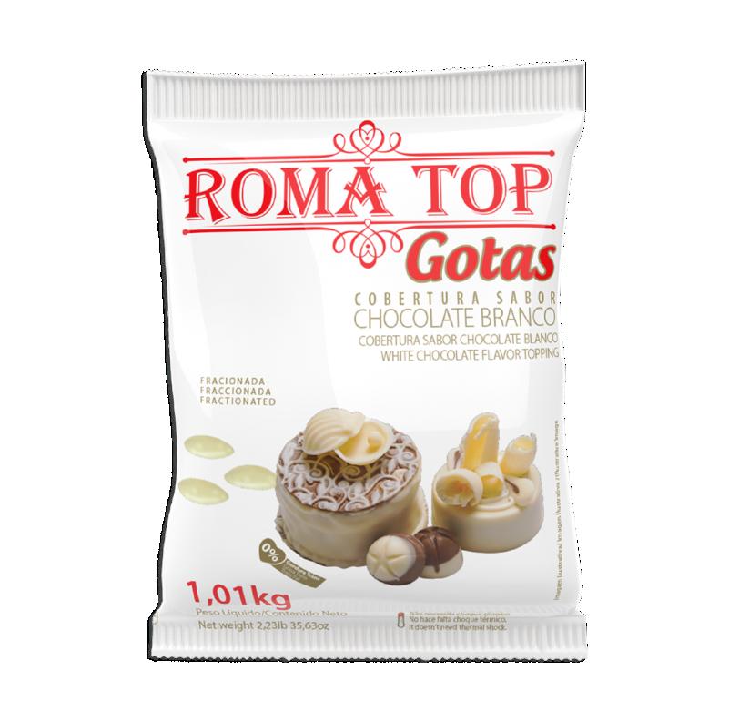 Roma Top Branco gotas